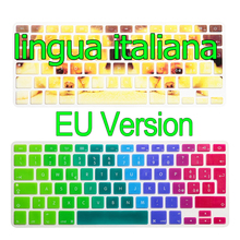 "Italian For Apple Macbook Keyboard Cover 13"" 15"" 17"" Rainbow Laptop Keyboard Stickers EU Version Silicone Skin Protector Covers"