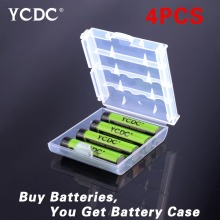YCDC Green 4x AAA Nimh High Volume Rechargeable Battery 1000mAh 1.2V For Cameras Flashlight CD/MP3 players + Free Battery Case