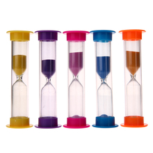5pcs Plastic Transparent Crystal Hourglass Sandglass Sand Clock Timers Plastic Colorful Hourglass Sandglass Sand Clock Timers