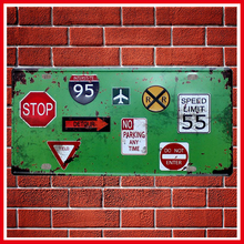 New Traffic Warning Sign Vintage Metal Signs Home Decor Vintage Tin Signs Pub Vintage Decorative Plates Metal Wall Art(China)