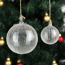Free Shipping Handmade Christmas Tree Glass ball Pendant Christmas Trees Ornament Holiday party Decoration(China)