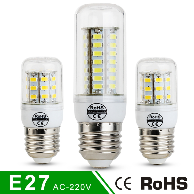 High Luminous E27 5730 SMD LED Corn Bulb 220V 24LEDs 30LEDs 38LEDs 48LEDs 56LEDs 69LEDs Spotlight Lamp Light For home Corn Bulb<br><br>Aliexpress