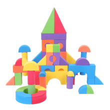 BOHS Geometric Shape Eva Soft Toy Safe Foam Building Blocks Children Educational Toys 50pcs/set(China)