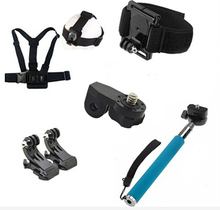 Surface J-Hook Monopod Mount Accessories Head Wrist Chest Strap With 1/4inch Connector For SJCAM GOPRO Hero 5 4 3+ 3 XIAOMI YI