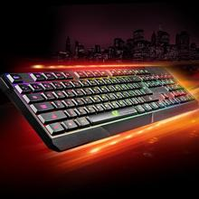 Black Silicone 104 Gaming Keyboard USB Wired LED Colorful Backlight Illuminated Keyboard  for PC Laptop Notebook Desktop