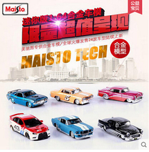 Maisto 1:64 small car Original Simulation alloy car model 1pcs Fast and Furious kids toys VW Bus Ford Mustang Chevrolet Hummer