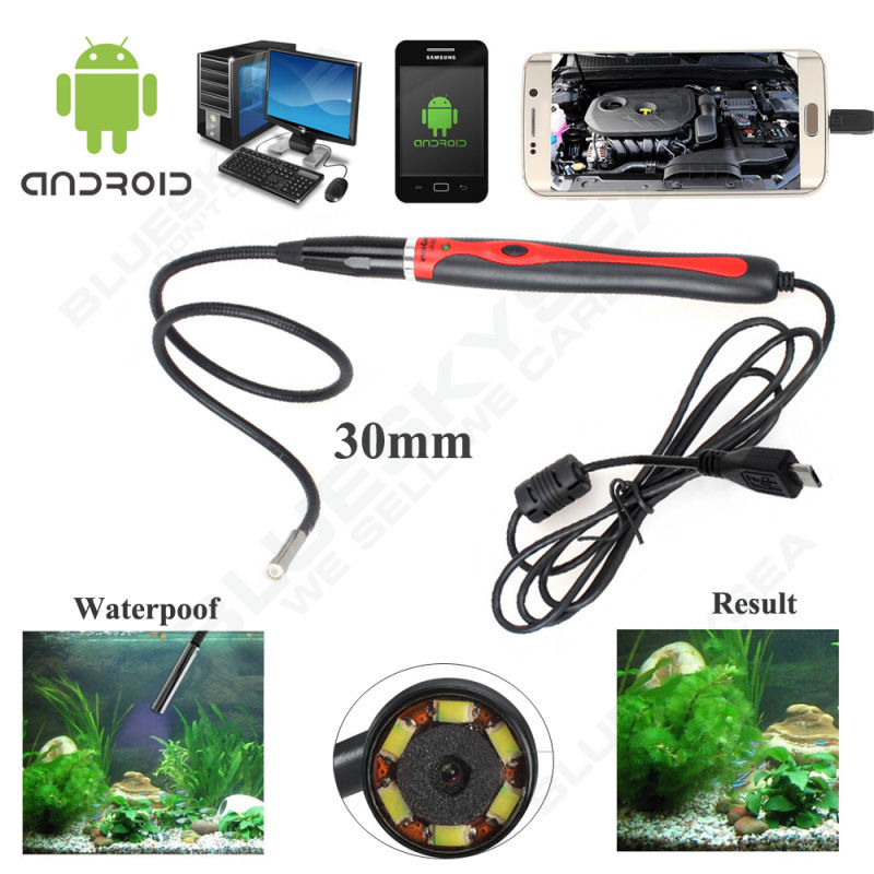 Eyoyo Updated 5.5MM Inspecition Endoscope Borescope Camera OTG Android Endoscope 6 Leds<br>