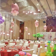 10pcs 18inch Romantic heart Pearl Pink Star shaped foil balloons helium pure color wedding I Love You Globos Party Decoration