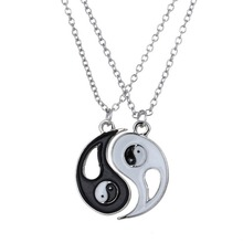 New Chinese Mystical Yin Yang Pendant Necklace Stainless Steel Necklaces Couple Necklace