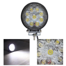 4 Inch 27W High-power 9X 3W Automotive Round LED Work light 12V Spot Flood Waterproof For 4x4 Offroad ATV Truck Driving Fog Lamp