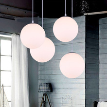 Top Designed Led lighting modern brief lighting lamps milky white ball lights glass ball pendant light restaurant lamp