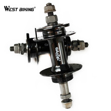 Steel Material Quick Release Bike Hub Front Rear Mountain Road Bike Hubs Disc Card Bicycle Cycling Bike Disc Brake Bearing Hubs