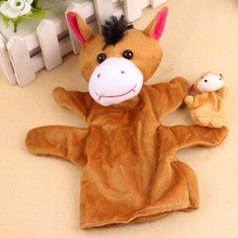 2Pcs Horse Soft Animal Finger Puppet Baby Infant Kid Toy Plush Toys Christmas Gift Mini Hand Finger Puppets Metoo Doll #ES(China)