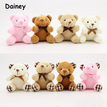 1PCS Hot 8CM Kawaii Small Teddy Bears Plush Toys Stuffed Animals Fluffy Bear Dolls Soft Kids Toys 8 Patterns MRDW11
