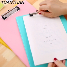 TUANTUAN Candy Color School Supplies clipboards A4 notes folder write sub-plate WordPad Stationery Paper File Folder Holder