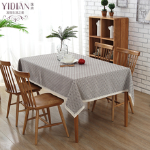 100% Cotton TableCloth geometry pattern Table cover Rectangular Table cloth Wedding Decoration FOR HOME manteles para mesa