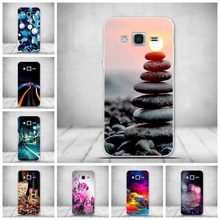 Luxury Cartoon Tree Case Silicone Cover Cases For Samsung Galaxy J3 2016 J320 J320F Silicone Cover For Samsung J3 2015 coque New(China)
