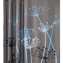 2017 Hot Sale Dandelion Pattern 3D Waterproof Polyester Shower Curtain with 12 Plastic Hooks Curtains for Bath Shower(China)