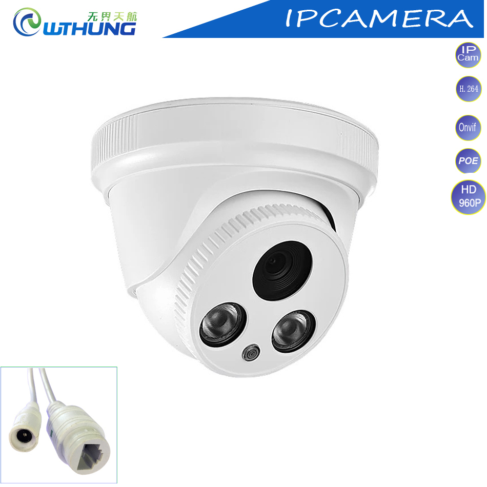 XM IP Camera 1.3MP 960P 1/3 CMOS Sensor Dome intdoor built in POE support P2P ONVIF 2 Array IR lamp for CCTV security Camera<br>