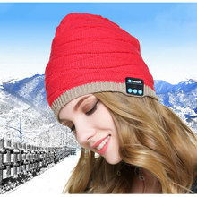 Bluetooth Music Hat Headphone Headset Earphone Mic Built-in Stereo Speakers Winter Warm Hat for Travelling Christmas Gifts