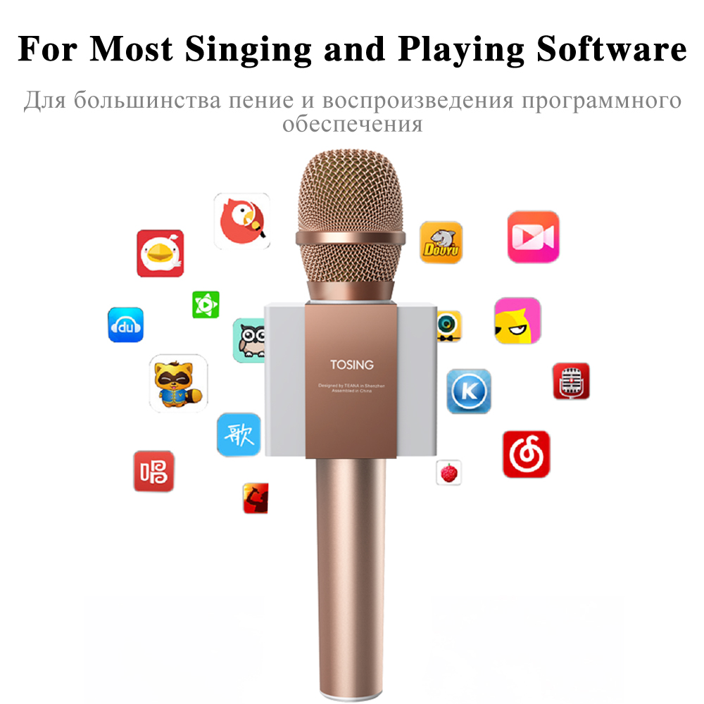 Original brand Tosing 008 3 in 1 Handheld Karaoke Microphone with One Button to Remove Original Singsing Function Sing Anytime-7