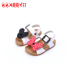 KKABBYII New Summer Girls Sandals Toddler Genuine Leather Bow Shoes Children Fashion Flat Baby Girl Brand Party Pink Shoes