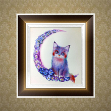 (OOTDTY)DIY 5D Diamond Embroidery Cute Cat Painting Cross Stitch Art Craft Home Decor MAY05_32