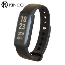 KINCO 0.91inch Pedometer Wristband USB Card Reader Heart Rate Monitor Smart Bracelet For IOS/Android(China)