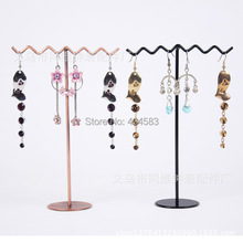 Free shipping Metal earring display stand rack jewelry holder bracket holder Jewelry display