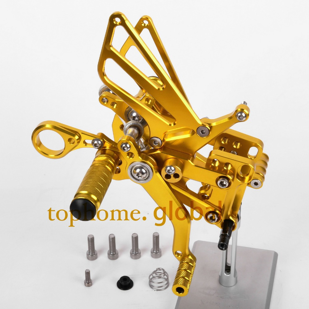 Free Shipping Motorcycle Parts Golden CNC Rearsets Foot Pegs Rear Set For BMW  S1000RR 2012-2013 2014 New<br><br>Aliexpress