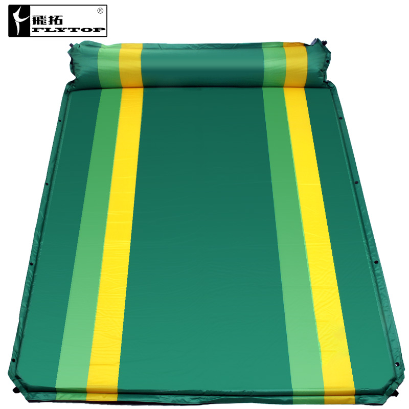 Flytop couple 2persons automatic inflatable cushion outdoor tent mattress moisture-proof pad for widening and thickening<br>