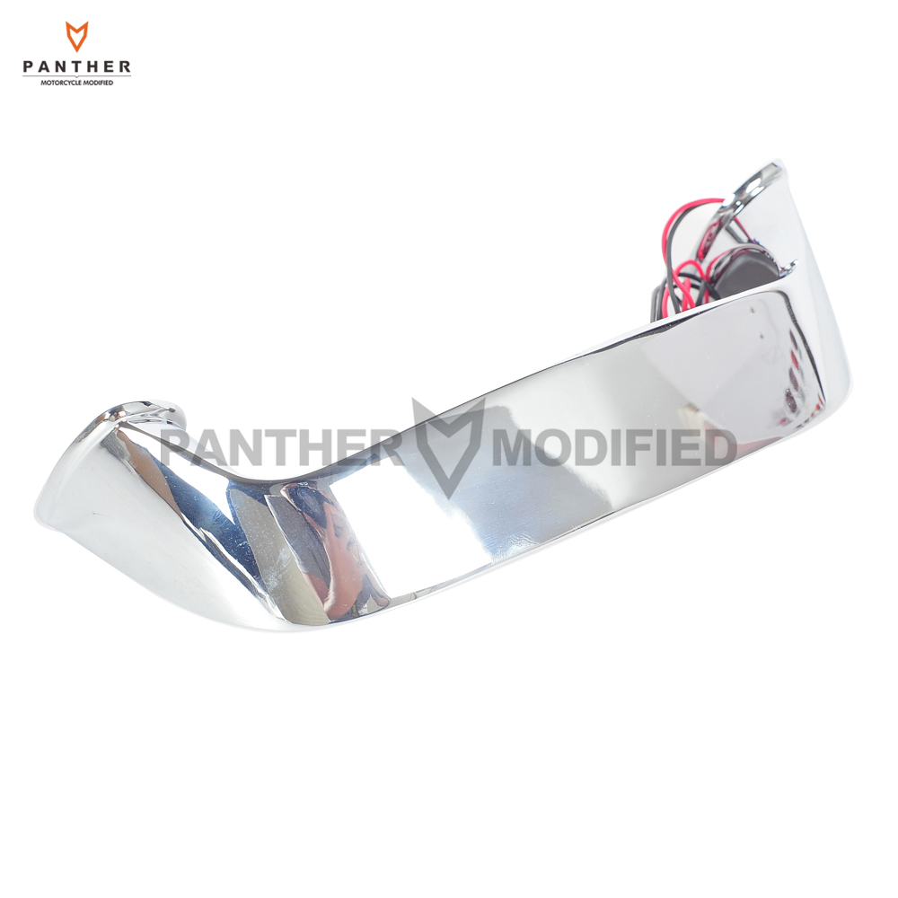 Chrome Motorcycle Rear LED Lighted Trunk Lid Handle Light case for Honda Goldwing GL 1800 GL1800 2001-2016<br>