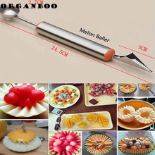 DIY Ice Cream Dig Ball Scoop Spoon Baller Assorted Cold Dishes Tool Watermelon Melon Fruit Carving Knife Cutter Gadgets