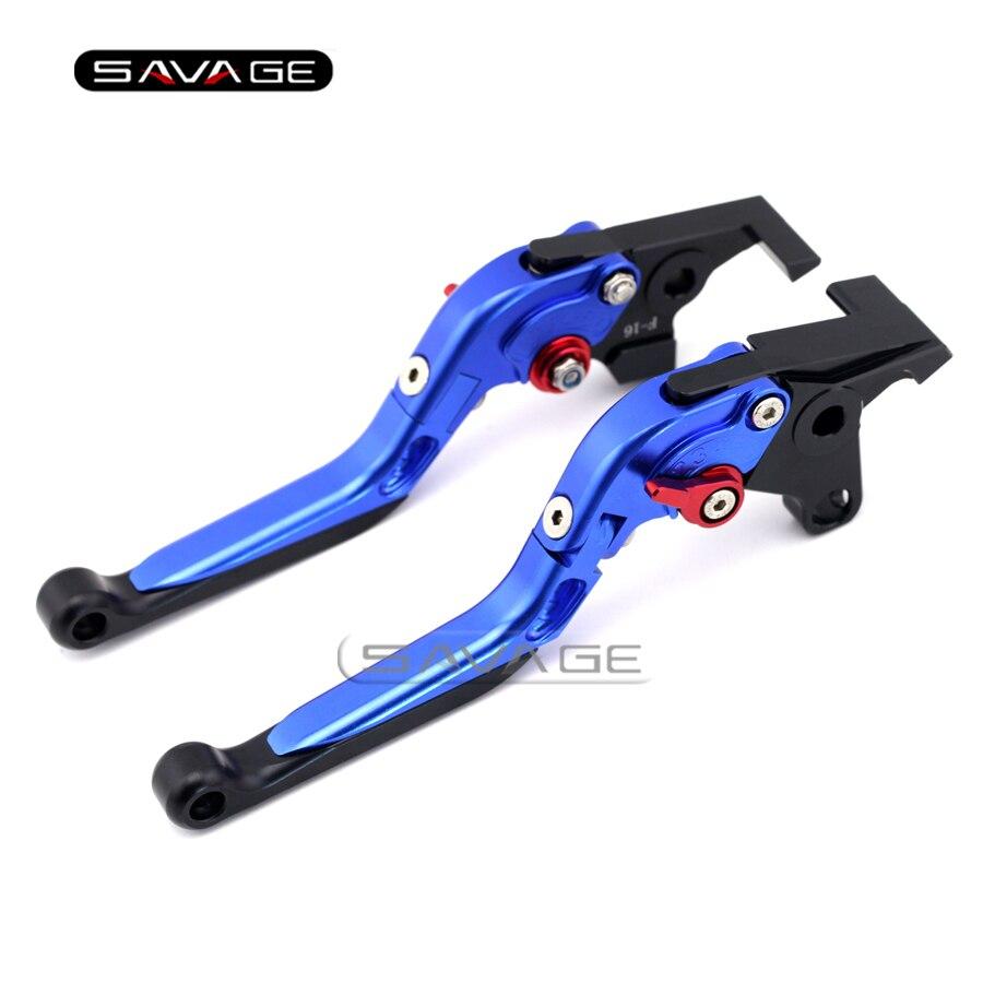 For YAMAHA XJR 1300/1200  XJR1300 XJR1200 FJR1300 XT1200ZE Blue Motorcycle Adjustable Folding Extendable Brake Clutch Lever<br>