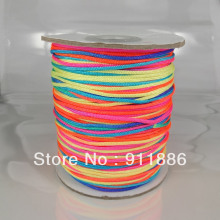 Free Shipping,250m/Roll,1mm Colorful Shamballa Waxed Nylon Cord,ExquisiteThread For Shamballa Bracelet/Necklace Making