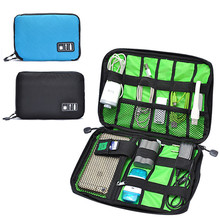 Portable Fashion Digital Device Organizer Storage Bag box for U Disk Cable Charger(China)