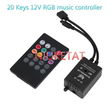 12V 20Keys music controller RGB led IR wireless control for 2835/5050 rgb LED strip 12V 20 Key Wireless control for no battery(Hong Kong)