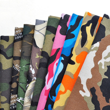 Telas Fabria Camouflage clothing bags thicker canvas material printed tablecloths broke diy handmade hemp fabric sofa wholesale(China)