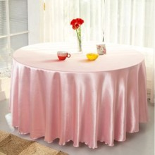 10pcs Light pink 120 Inch Round Satin Tablecloths  Table Cover for Wedding Party Restaurant Banquet Decorations