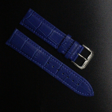 Crocodile Pattern Genuine Cow Leather Strap Watch Band Strap dark blue Watchband men women 14mm 16mm 18mm 20mm 22mm promotion