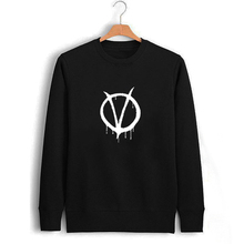 Movie V For Vendette Print Sweatshirt Black Male Autumn Winter Sweatshirts Mens Clothing Printed Punk Slip knot