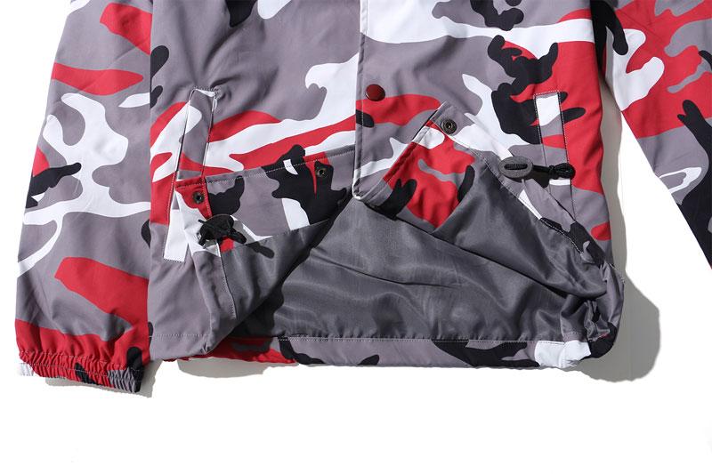 Color Camo Windbreaker Coaches Jackets 14