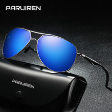 54d33df7247 PARUIREN Mens Brand Designer Polarized Sunglasses UV400 Vintage Aviator Sun  Glasses For Men High Quality Yellow Driving Eyewear