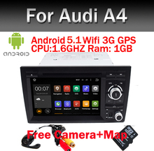 2016 NEW 2Din Car DVD Android 5.1 for Audi A4 Android 2002-2008 year with Wifi 3G GPS Bluetooth Radio RDS USB SD Free camera+Map