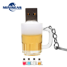 2016 Miniseas Usb Flash Drive Fashion Cool Beer High Speed 8GB 16GB 32GB 64GB Pen Drive Memory USB Stick Pendrive Flash Drive