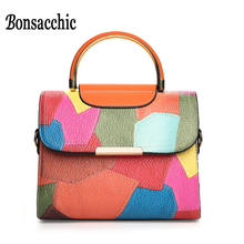 2017 Brand Bag Women's Summer Handbag Little Shoulder Ladies Beach Flap Patchwork Women leather handbags sac bolso mujer - Bonsacchic Yorbestbags Store store
