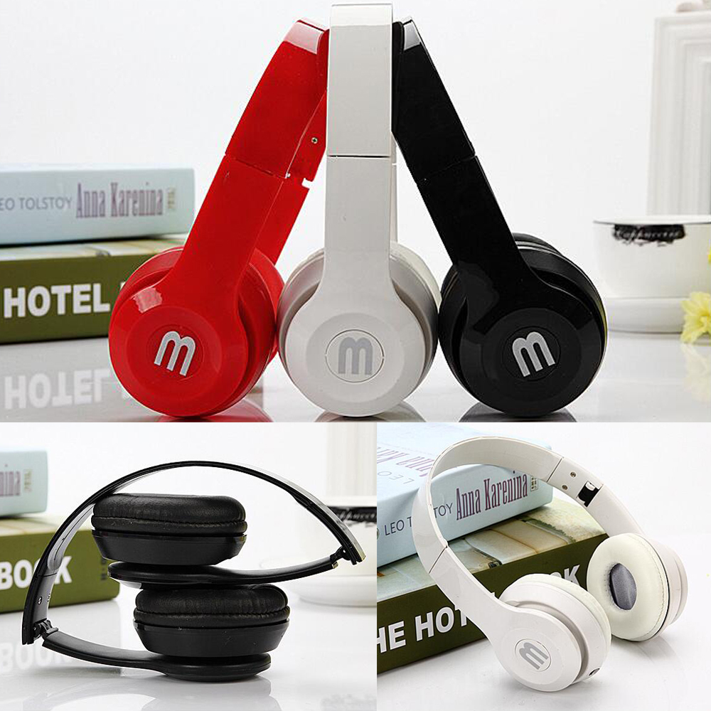 Stereo Music Headphones with mic Bass sound Foldable Headset universal 3.5mm earphones for Computer MP3 4 Mobile phone PC<br><br>Aliexpress