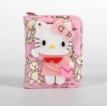 Short/Mid/Long 10 Pattern Luxury Women Wallets Cute Cartoon Hello Kitty Wallet High Quality Pu Coin Wallet Clutch Bag Money Bag