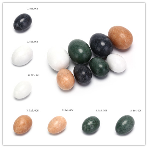 Natural Nephrite Jade Drilled Health Care Eggs Pelvic Muscle Exercise Tightening Balls For Pregnant Women 4 Styles 2 Sizes