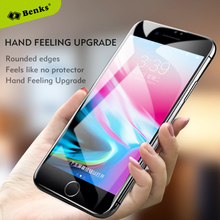 Benks Curved Glass sFor iPhone 7 8 Plus Glass Tempered Glass Screen Protector Full Cover Anti Dust Glass Film sFor iPhone7 8(China)